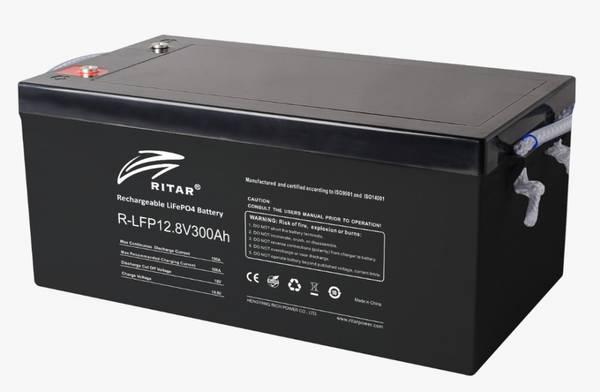 Bilde av RITAR Lithium Batteri 12V 300Ah (LiFePO4)