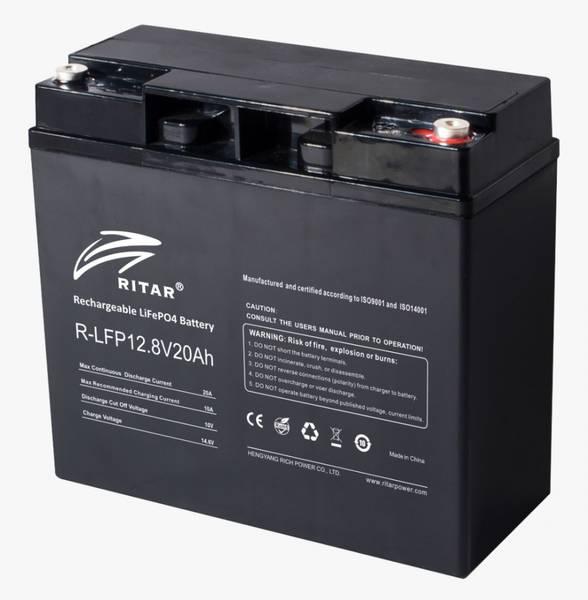 Bilde av RITAR Lithium Batteri 12V 20Ah (LiFePO4) BMS 20A