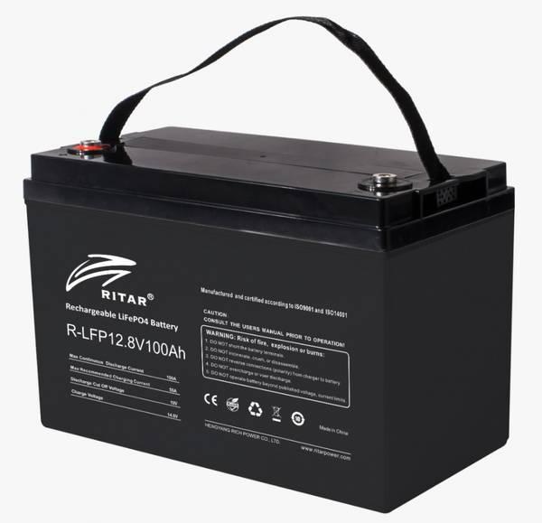 Bilde av RITAR Lithium Batteri 12V 100Ah (LiFePO4) BMS 100A