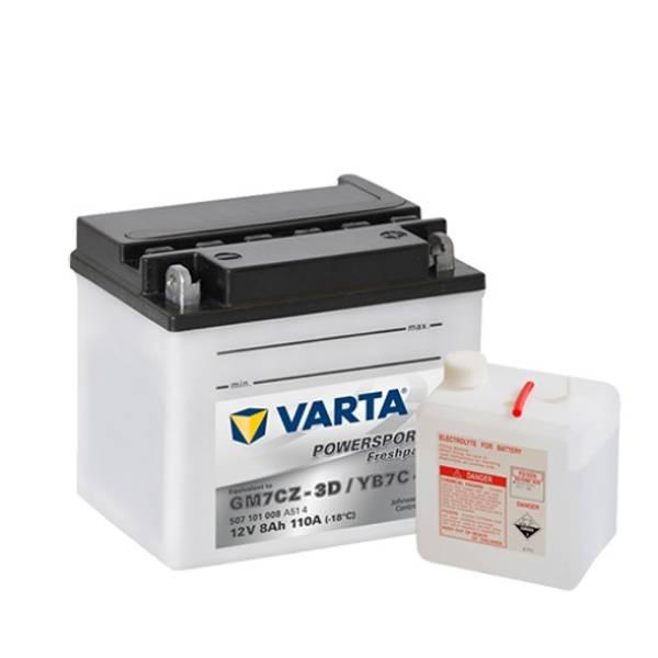 Bilde av  VARTA YB7C-A MC Batteri 12V 7AH 110CCA (130x90x114mm) +høyre YB