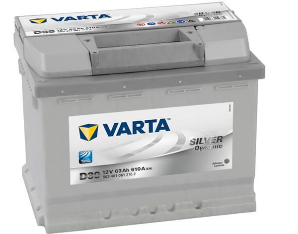 Bilde av VARTA D39 Silver Dynamic Batteri 12V 63AH 610CCA (242x175x190/1