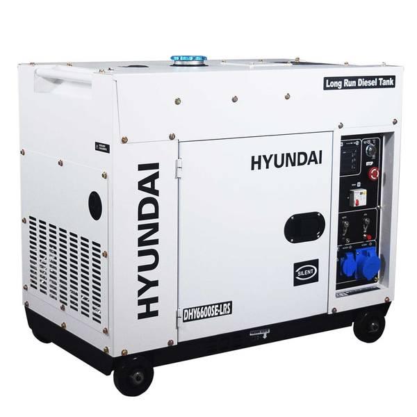 Bilde av HYUNDAI DHY6600SE Strømaggregat 6600W - Elektrisk start - Diesel
