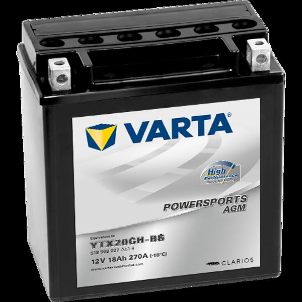 Bilde av  VARTA YTX20CH-BS AGM MC Batteri 12V 18AH 270CCA (150x87x161mm)